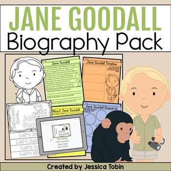 Jane Goodall Biography Pack