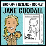 Jane Goodall Biography Research Booklet