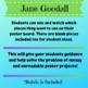 Jane Goodall Biography Research Poster Kit