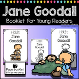 Jane Goodall Booklet for Young Readers - Emergent Reader W