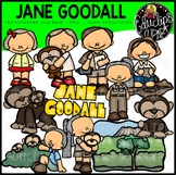 Jane Goodall Clip Art Bundle {Educlips Clipart}
