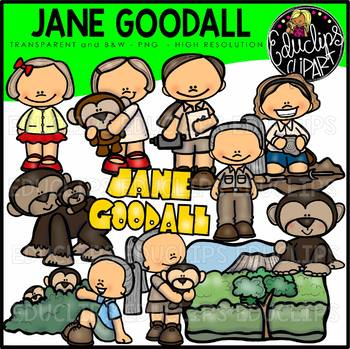 Jane Goodall Clip Art Bundle {Educlips Clipart}