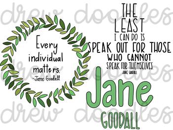Jane Goodall Digital Clip Art Set
