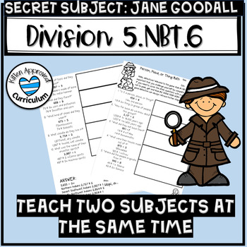 Jane Goodall Activity Division Math Enrichment 5th