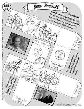 Jane Goodall / Paper Craft Mini Project
