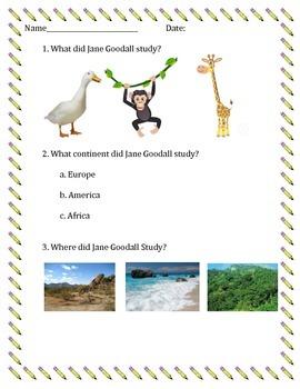 Jane Goodall Quiz