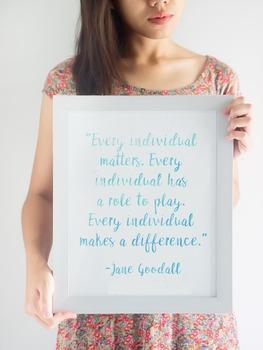 Jane Goodall Quote Printable