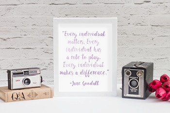 Jane Goodall Quote Printable