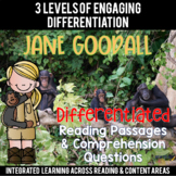 Jane Goodall Reading Passages Leveled Texts