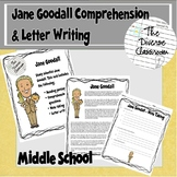 Jane Goodall Reading and Letter Writing Activity - Middle School