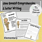Jane Goodall Reading and Letter Writing Activity - Elementary