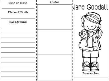 Jane Goodall Biography Brochure