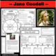 Jane Goodall Timeline Poster Acrostic Poem Activity with Reading Passage