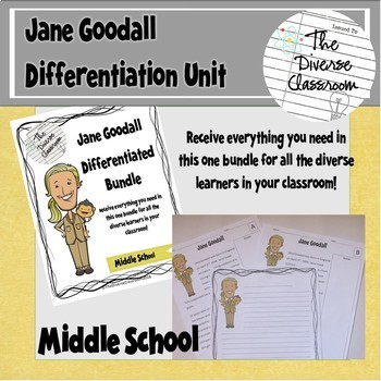 Jane Goodall Women in Science Differentiated Unit