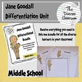 Jane Goodall Women in Science Differentiated Unit Bundle