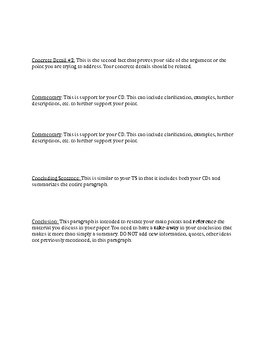 Jane Schafer Writing Style 5 Paragraph Essay Outline