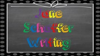 Jane Schaffer Writing Posters