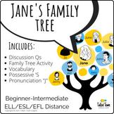 Jane's Family Tree: Possessives, Family Vocabulary, and Sp