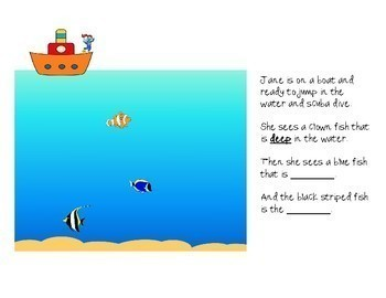 Jane's Ocean Adventure: An Illustrated Story for Comparatives and Superlatives