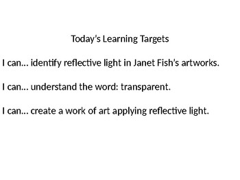 Janet Fish Google slides Lesson Updated Version