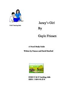 Janey's Girl Novel Study Guide