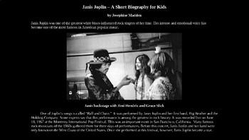 Janis Joplin - Illustrated PowerPoint Biography