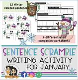 January Sentence Scramble - Sentence Writing Activity & Practice