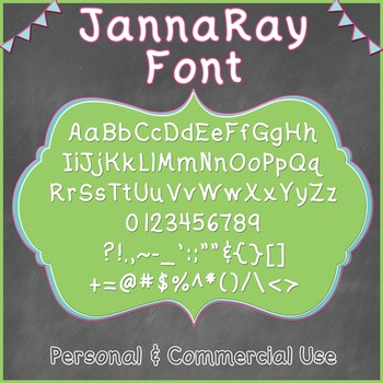 JK ~ Janna Ray Open Type Font (Personal & Commercial Use)