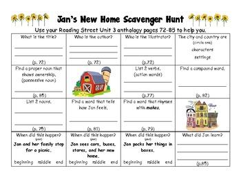 Jan's New Home Skills Practice Packet  (Reading Street, Scott Foresman)