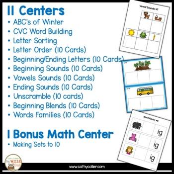 January: 11 Ready-made Reading Centers