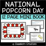January 19: National Popcorn Day Mini Book