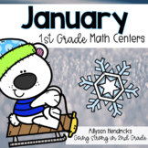 January 1st Grade Math Centers with Task Cards