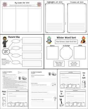 January Activities and Printables for New Year's Day, MLK Day, and Winter