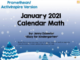 January 2019 Calendar for the Promethean Board (ActivBoard)
