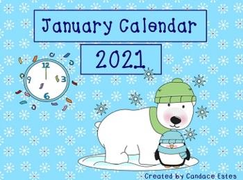 January 2017 Activboard Morning Calendar Activities