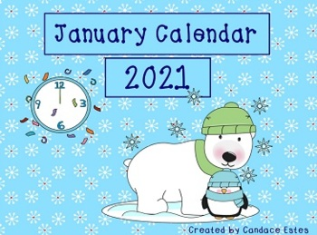 January 2018 Activboard Morning Calendar Activities