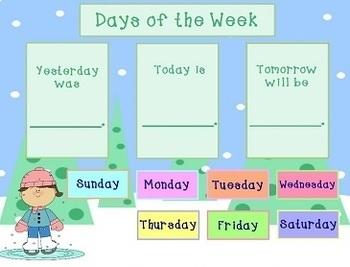 January 2019 Activboard Morning Calendar Activities