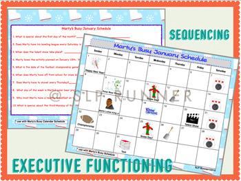 January Calendar Activities - language skills