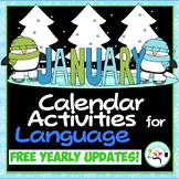 January Calendar Activities - language skills