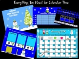 January Kindergarten Calendar for ActivBoard