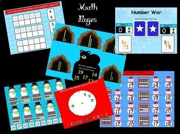 January Kindergarten Calendar for ActivBoard