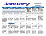 January 2015 Articulation Homework