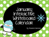 January 2021 Interactive Whiteboard Calendar