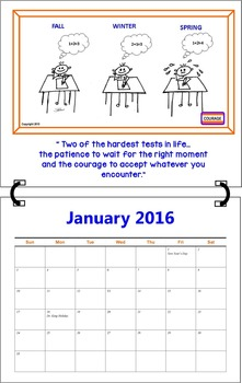 January 2016 ( A 1-Month Inspirational Calendar for Teachers)