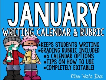 January 2016 Calendar Writing Prompts