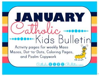 January 2016 Catholic Kids Bulletin with Weekly Saints