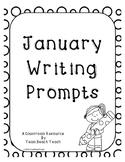 January 2016 Writing Prompts Calendar Grades K-3