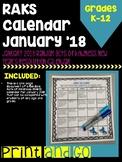 January 2018 Calendar New Year's Resolution: Random Acts o