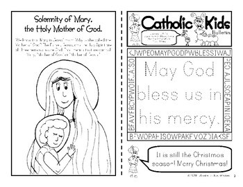 January 2018 Catholic Kids Bulletin with Weekly Saints