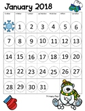 January 2018 Do A Dot Calendar